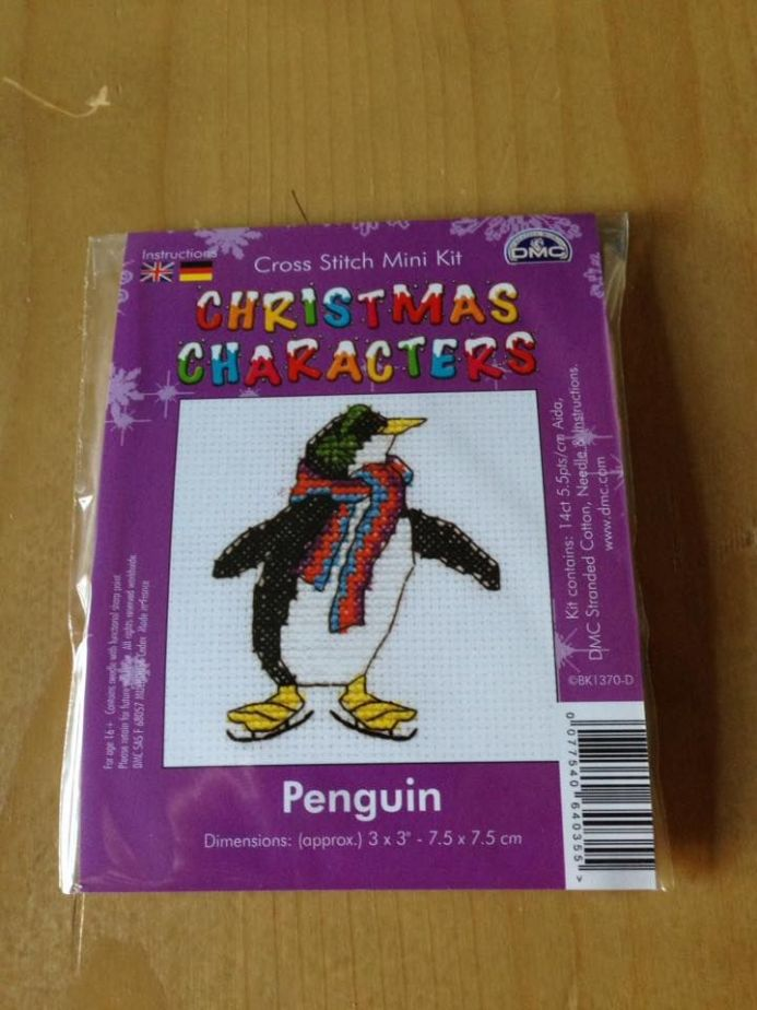Penguin Christmas Character DMC Mini Kit